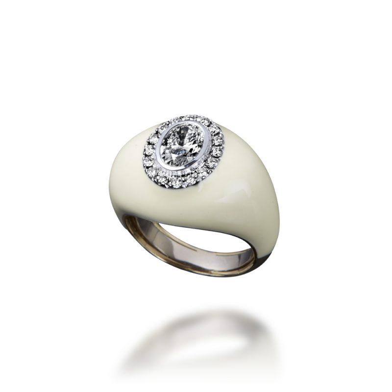 veschetti anello arcobaleno bianco