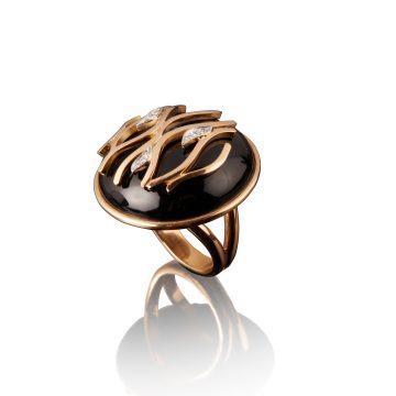 veschetti anello fiamma nero